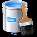 paint,blue,color icon