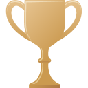 bronze, cup icon
