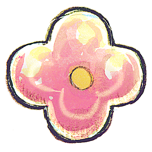 pink, flower icon