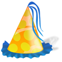 Birthday, Hat, Party icon