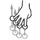 four, finger, swipe, gestureworks icon