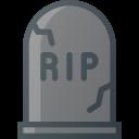 cemetery, rip, death, stone, grave icon