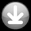 down, download, fall, descend, descending, decrease icon