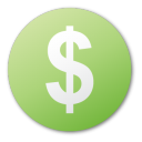 green, currency, coin, money, cash, dollar icon