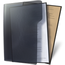 folder, file, document, paper, black icon
