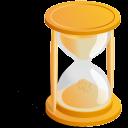 reloj, arena icon