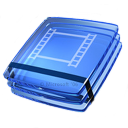 video, glass icon