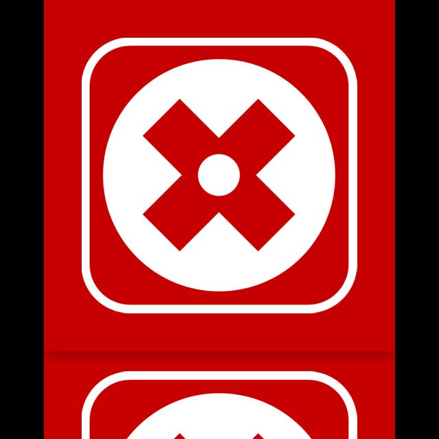 uninstall, mirror icon