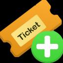 ticket, add icon