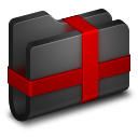 Package Black Folder icon