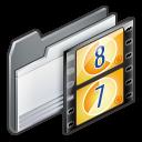 movie, video, folder, film icon