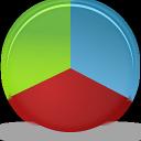 graph, chart, pie icon