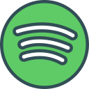 spotify, network, social, logo, brand icon