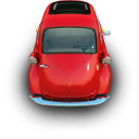 transport, transportation, car, vehicle, red, little, automobile icon
