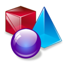 max, shapes, 3d icon