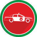 automobile, police, car, vehicle icon
