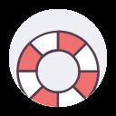 lifesaver, lifebuoy, help, saver, preserver, life, flotation icon