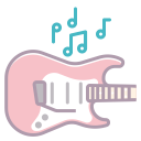 notes, appliance, guitar, play, electronics, music, sound icon