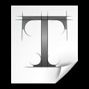 font, otf, application icon