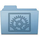 System Preferences Folder Blue icon