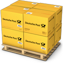 shipment, palet, warehouse, deutche post, shipping, products, goods, boxes icon