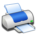 Hardware Printer Blue icon