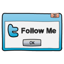 Dialog, Follow, Me, Twitter, Window icon