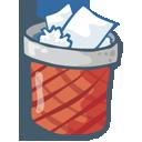 recycle bin, empty, trash, blank icon