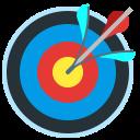 target, advantage, targeting, accuracy, arrow icon