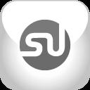 stumbleupon, grey icon