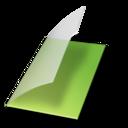 Documents vide vert icon