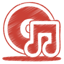 red music cd icon