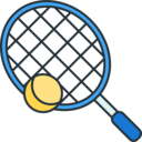 Sports Tennis racket ball icon