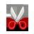 gnome, edit, cut, 48 icon