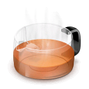 glass,teapot,red icon