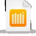 document, file, paper, orange icon