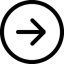 arrow right circle icon
