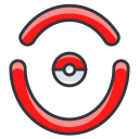 play, go, moltros, pokemon, pokeball, game icon