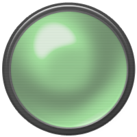 green, button, off icon