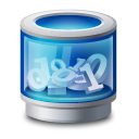 full, trash, blue, recycle bin, grafic icon