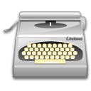 package, typewriter, wordprocessing icon