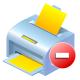 remove, printer icon