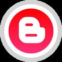 logo, social, media, blogger icon