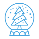 tree, decor, snowglobe, decoration, snow, christmas icon