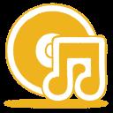 yellow music cd icon