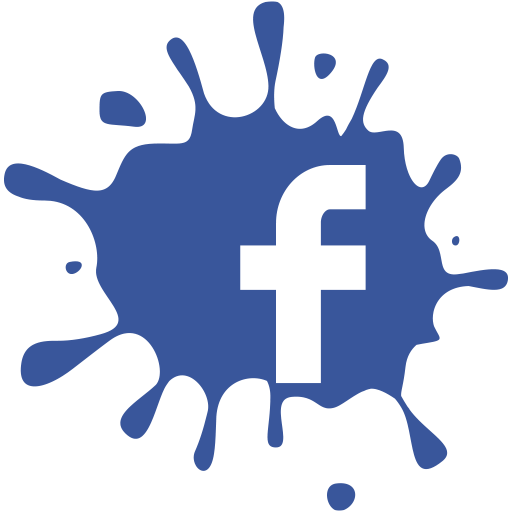 media, blot, facebook, set, social icon