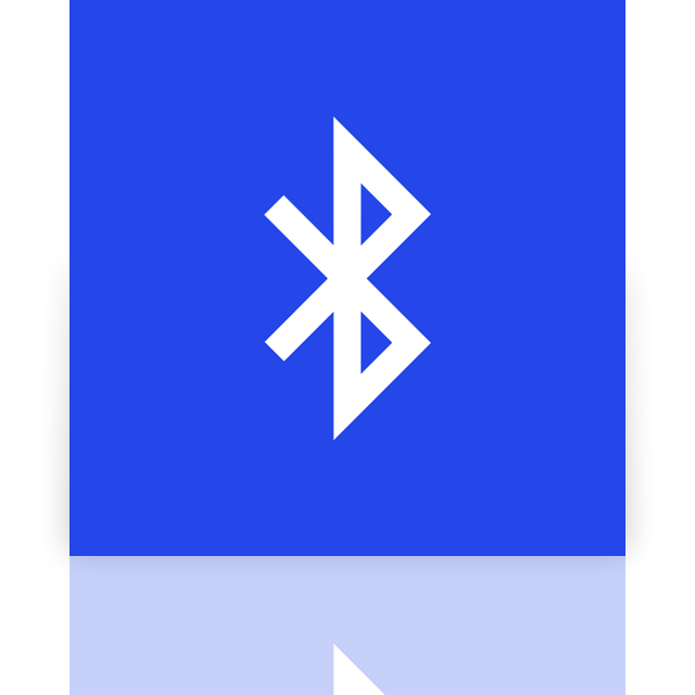 bluetooth, mirror icon