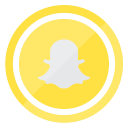 smartphone, mobile, snapchat, technology, internet icon