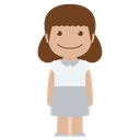girl, white, female, child, avatar, kid, person icon