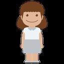 girl, white, female, child, avatar, kid, person icon